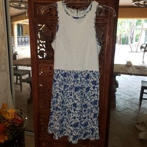 Delia's floral lace blue and white dress